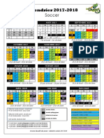 Calendrier Scolaire - Primaire - 2017-2018 - Word - Soccer