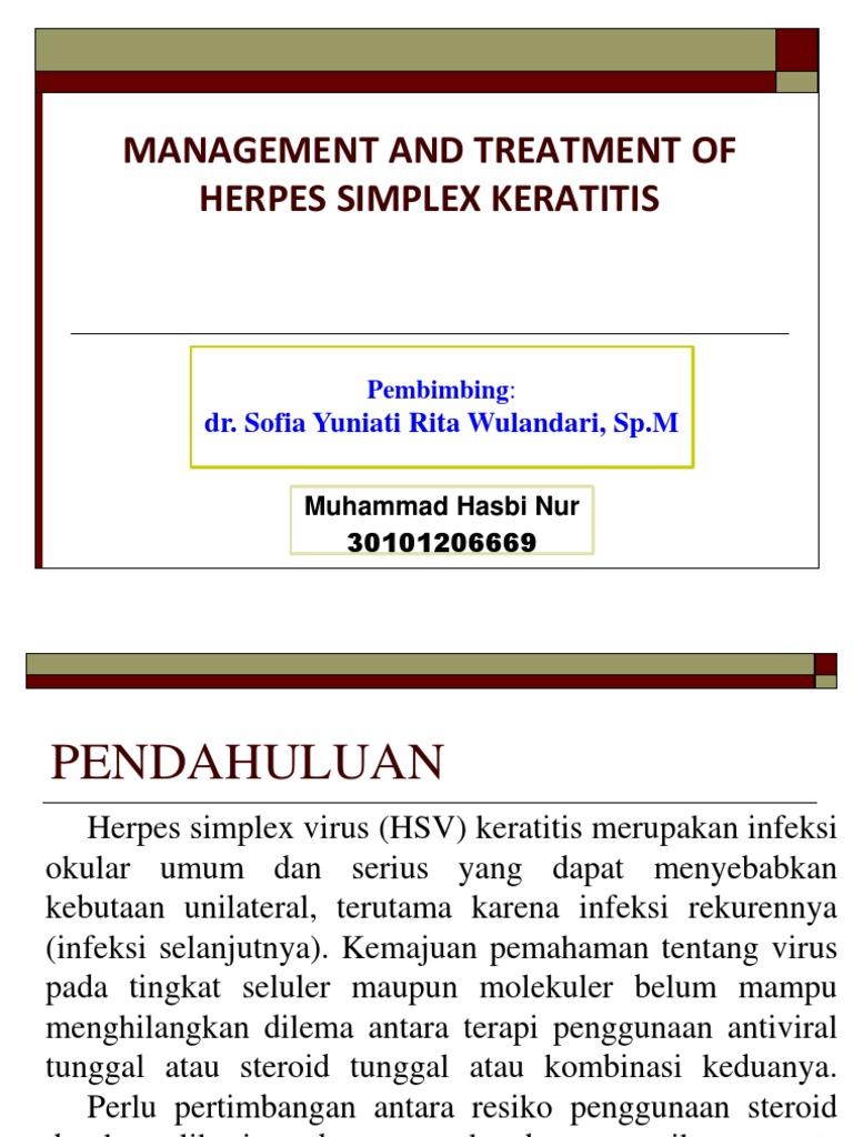 Manajemen Terapi Herpes Simplex