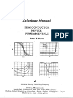Semiconductor Device Fundamentals - 1st Ed Solution Manual (R. Pierret)