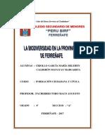 Monografia Biodiversidad de Ferreñafe