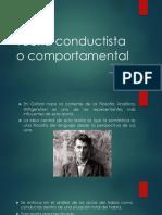 Teoría Conductista o Comportamental
