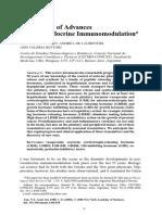 Chronology of Advances Neuroendocrine Immunomodulation
