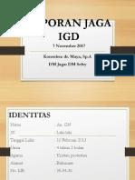 Laporan Jaga 7-11-2017 IGD DM Selvy - Dr. Maya