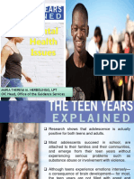 Teen Years Explained-Mental Health Issues