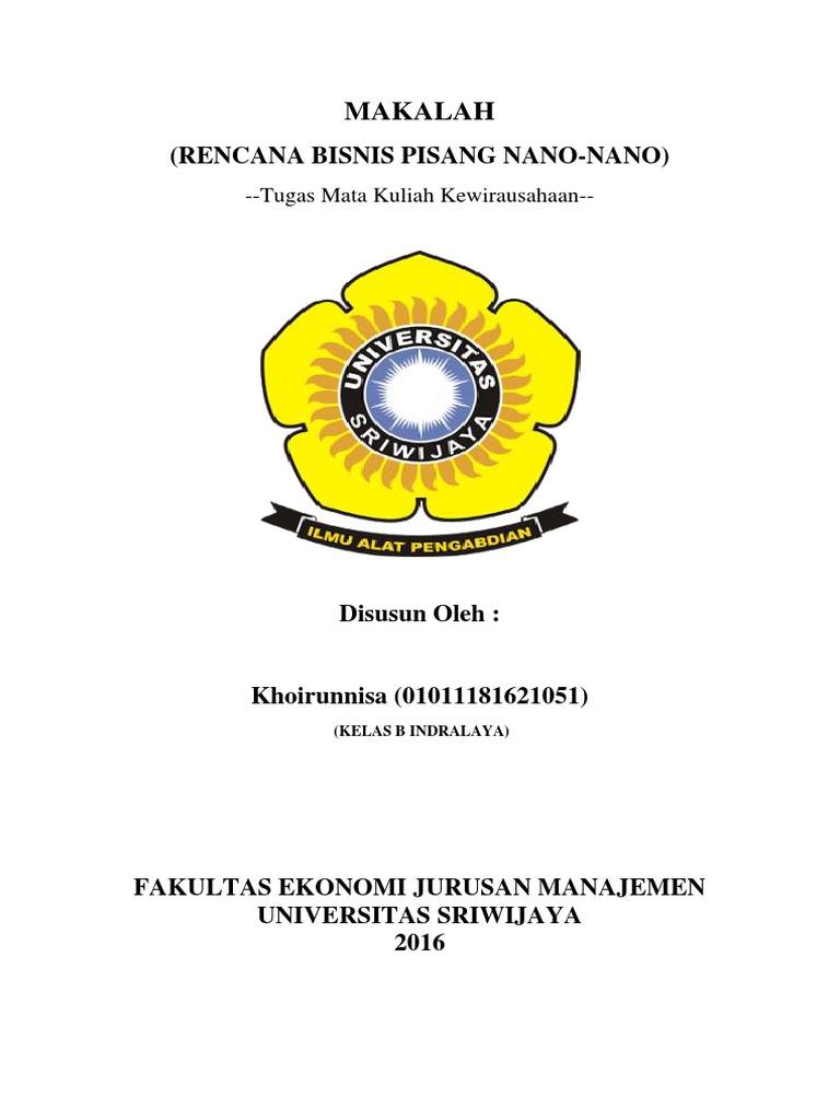 Contoh Cover Bisnis Plan Pigura
