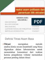 Prinsip Reaksi Asam Polibasis Dan Penentuan Titik Ekivalen Kelompok 1