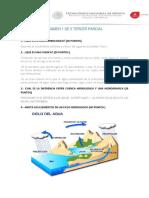 Examen 1 Tercer Parcial Hidrologia