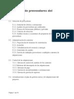 1FS3 Gestión de Proveedores del proyecto