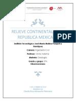 Atlixqueño Palomares Claudia Rosa 3°A Ing. Civil T.M. (Relieve Continental)