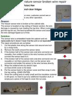 Freezer Sensor Wire Fix