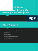 Housing Technologies in the Philippines