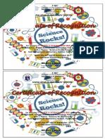 Certificates Science