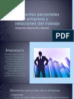 Elementos personales de la empresa y relaciones laborales