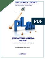 Plan de Desarrollo Municipal 2016-2020