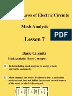 Lesson 7 Mesh Analysis