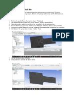 2D Analysis of Filleted Bar