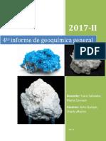 4to Informe de Geoquimica General