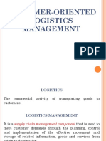 Custmr Orntd Logistics Mgt