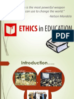 Ethics in Education System(Presented)