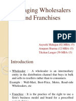 Managing Wholesalers n Franchises