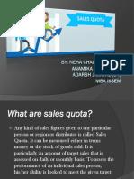 Sales Quota-III Sem