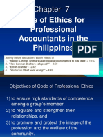 Chapter 7 Code of Ethics for Professional Accountants in the Philippines