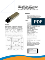 187-0A009-02 SFP DWDM EZX, LR-2, ZX- Product Datasheet- 2 Page