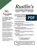 Mar-Apr 2003 Rustlin's Newsletter Prairie and Timbers Audubon Society