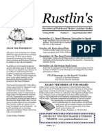 Sep-Oct 2003 Rustlin's Newsletter Prairie and Timbers Audubon Society
