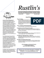 May 2003 Rustlin's Newsletter Prairie and Timbers Audubon Society