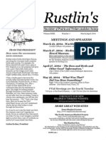 Mar-Apr 2004 Rustlin's Newsletter Prairie and Timbers Audubon Society