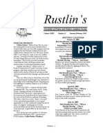 Jan-Feb 2005 Rustlin's Newsletter Prairie and Timbers Audubon Society