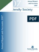 Exeter Friendly Society Accounts 2007