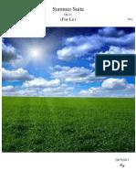 Summer Suite Op.11 PDF