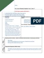english lesson plan 1