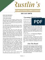 Dec-Jan 2007 Rustlin's Newsletter Prairie and Timbers Audubon Society