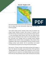 Sejarah Singkat Aceh 2