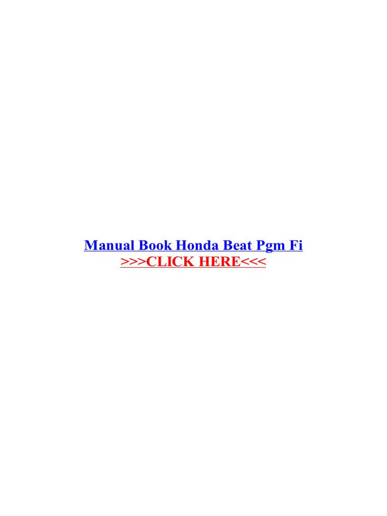Manual book honda beat pgm fi manual transmission honda cheapraybanclubmaster
