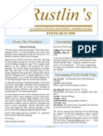 Feb-Mar 2008 Rustlin's Newsletter Prairie and Timbers Audubon Society