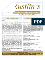 Oct-Nov 2008 Rustlin's Newsletter Prairie and Timbers Audubon Society