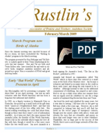 Feb-Mar 2009 Rustlin's Newsletter Prairie and Timbers Audubon Society