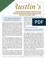 Oct-Nov 2009 Rustlin's Newsletter Prairie and Timbers Audubon Society