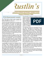 Feb-Mar 2010 Rustlin's Newsletter Prairie and Timbers Audubon Society