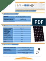 F T Modulo Fotovoltaico IS150 12ul Esp