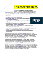 A Study on Cooperatives