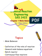 1 Chapter 1-Mole Balances