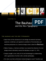 Bauhaus and New Typograph