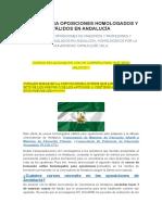 Cursos Para Oposiciones Homologados y Válidos en Andalucía