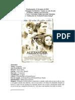 Capa Filme Alexandre