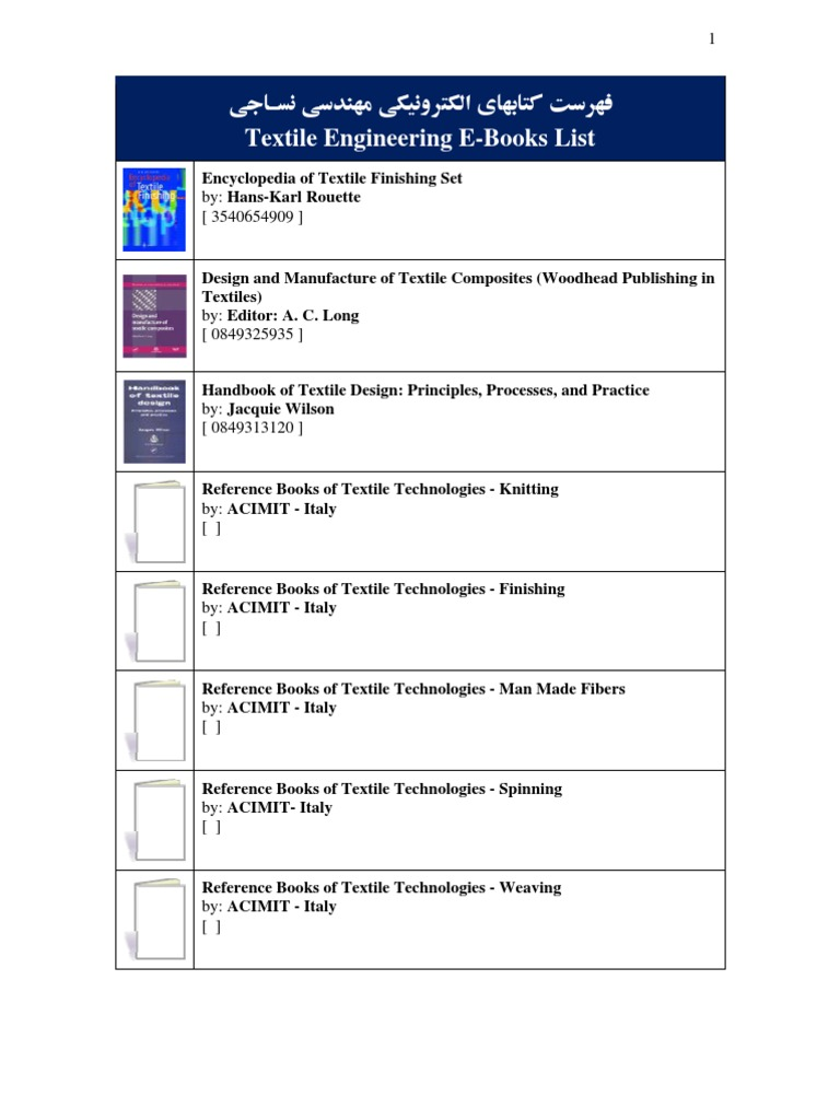 58 textile engineering e books list textile manufacturing textiles fandeluxe Image collections
